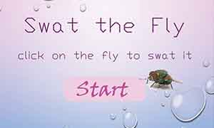 Screenshot of the landing page of a game called 'Swat', made in Flash
