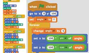 two sets of code, as seen in Scratch